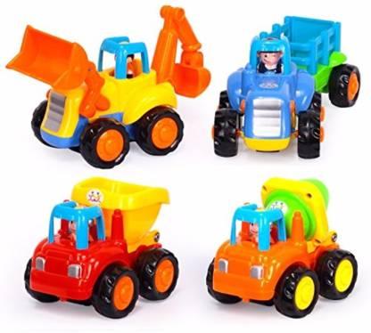 Smartcraft Happy Engineering Vehicles - Pack of 4 Bath Toy