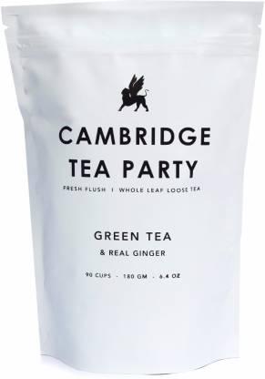 Cambridge Tea Party - Whole Leaf Loose Tea, Crushed Ginger Green Tea Vacuum Pack