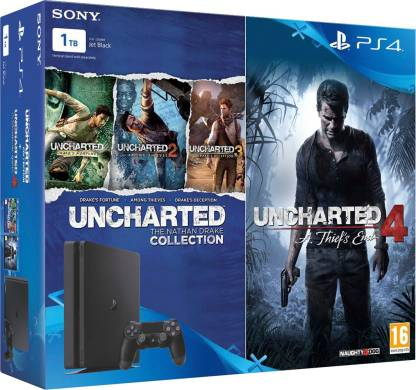 SONY PlayStation 4 (PS4) Slim 1 TB with Uncharted 4 and Uncharted Collection