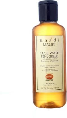 Khadi Mauri KHADI Fenugreek (Methi) Herbal  - 210 ml - Anti Pigmentation - Enriched with Chamomile Face Wash