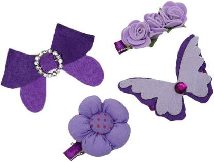 Dchica All Of Purple A Set Of 4 Chic Hair Accessory Set