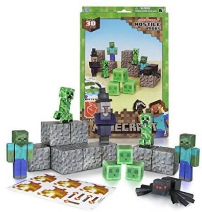 Minecraft Papercraft Hostile Mobs Set, Over 3Piece