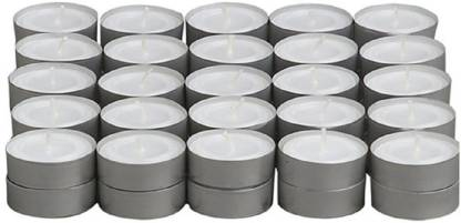 Skycandle.in 50 Pcs Set T-light Candle With 3-4 Hrs Burning Time- White Candle