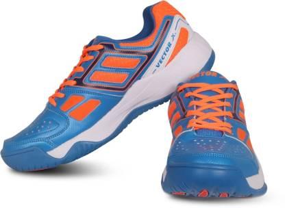 Tennis Shoes For Men(Blue, Orange)