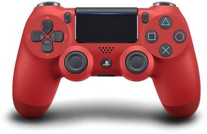 SONY Sony Sony PlayStation DualShock 4 Controller V2 - Magma Red and Sony DualShock 4 USB Wireless Adapter  Gamepad