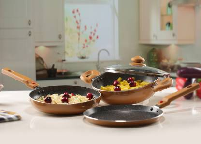 Prestige Omega Festival Pack   Build Your Kitchen Set Induction Bottom Cookware Set Aluminium, 3   Piece  Prestige Cookware Sets