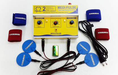 Medi Plus 2CH TENS (DELUXE MODEL) TWO CHANNEL TEN'S MACHINE PAIN RELIEVER , STIMULATOR ALL INDIA SERVICES Electrotherapy Device