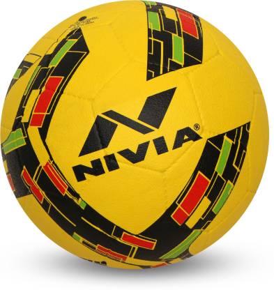 Nivia Storm Revolution Football   Size: 5 Pack of 1, Yellow  Nivia Footballs