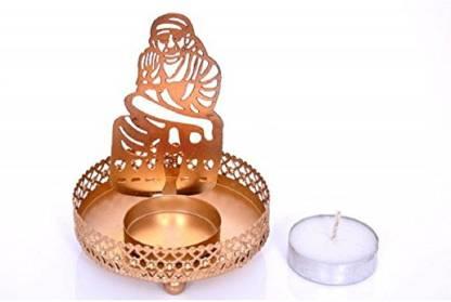 Meenamart Sai Baba Shadow Candle Tea light holder Candle Candle