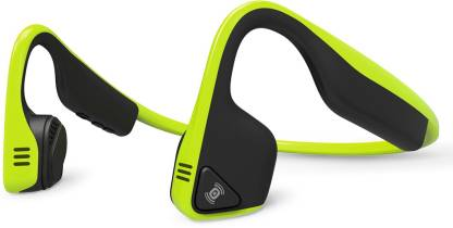 Aftershokz Trekz Titanium Bone Conduction Bluetooth Headset  (Green, Wireless over the head)