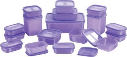 MASTER COOK 17 Pieces  - 200 ml, 330 ml, 1630 ml, 150 ml, 500 ml, 700 ml Polypropylene Fridge Container