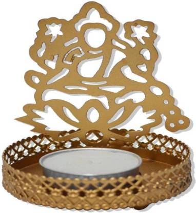 Laxmi G Iron Tealight Holder (Gold, Pack of 1) Candle Holder Candle