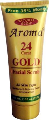 Gold 24K Natural Glow Aroma Facial  Scrub
