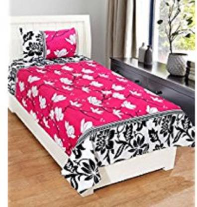 somay home furnishing Polycotton Single Floral Bedsheet