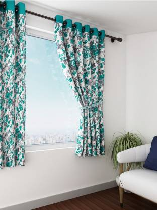 SWAYAM 152 cm (5 ft) Cotton Window Curtain (Pack Of 2)