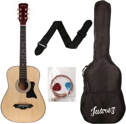 """Juarez JRZ38 /NAT Acoustic 38"""" Acoustic Guitar Linden Wood Ebony Right Hand Orientation"""