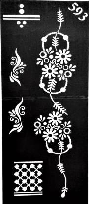 ARR Henna Stencils ARR Henna Stencil Sticker