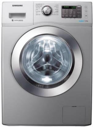 SAMSUNG 6.5 kg Fully Automatic Front Load with In-built Heater Silver
