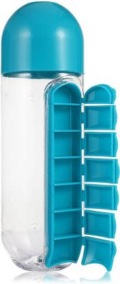 Selva Front 1 Pill & Vitamin Organizer Water Bottle multi clour Pill Box