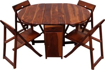 Induscraft Sheesham Wood Solid Wood 4 Seater Dining Set