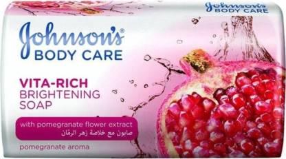 JOHNSON'S Body Care Vita- Rich Soap - Pomegranate Soap (Pack of 3)