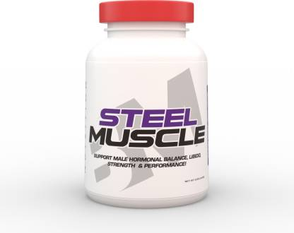 BIG MUSCLES Steel Muscle 120 Capsules Plant-Based Protein