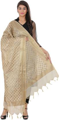 LOOM LEGACY Cotton Silk Printed, Self Design Women Dupatta