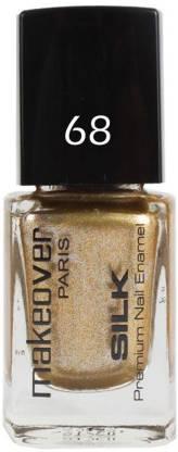 MAKEOVER Professional Nail Paint Sparking Golden-9ml Golden-