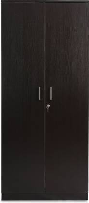 HomeTown Prime 2 Door Wenge Engineered Wood Almirah   Finish Color   Wenge  HomeTown Wardrobes