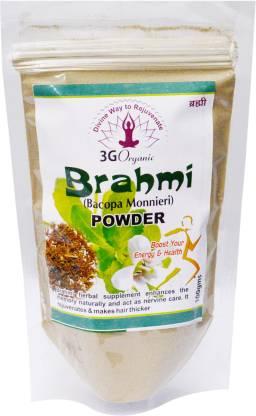 3G Organic Brahmi Powder Organic 100 Gms Baccopa Monnieri Hair Rejuvinator From 3G Organic