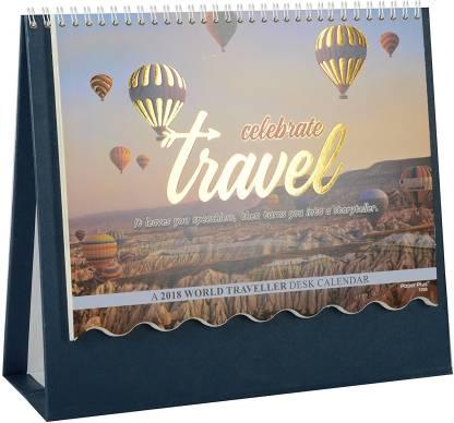 Gathbandhan Travel Theme Desk Calender 2018 Table Calendar