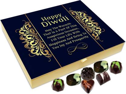 Chocholik Diwali Sweets - May The Warmth Of Diwali Fill Your Life With Happiness Chocolate Box - 20pc Truffles