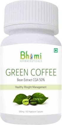Bhumija Lifesciences Green Coffee Capsules 60's - ( Vegetarian Capsules )