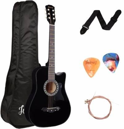 Juarez JRZ38C/CPG-BK Acoustic Guitar Linden Wood Ebony Right Hand Orientation