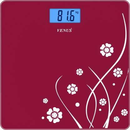Venus Eps-6399 Red Glass Digital Weighing Scale
