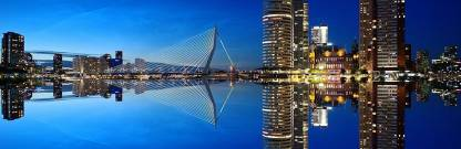 Asmi Collections Large Rotterdam Skyline Wall Painting