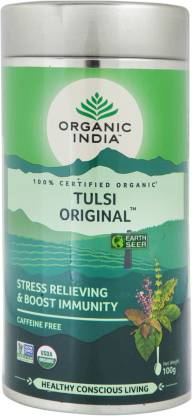 ORGANIC INDIA Original Tulsi Tea Drum