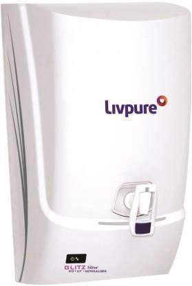 LIVPURE GLITZ SILVER 7 L RO + UF Water Purifier