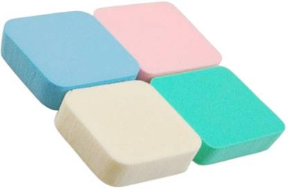 DzVR mported Make Up Cosmetic Conceler Powder Foundation Sponge Multicolor (Pack of 4)