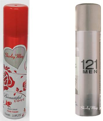 SHIRLEY MAY Beauti ful Love with 121 Men (Imported from U.A.E) Perfume Body Spray  -  For Men & Women
