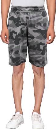 Maniac Printed Men Green, Black, Grey Regular Shorts