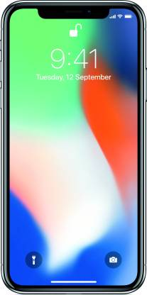 APPLE iPhone X (Silver, 256 GB)