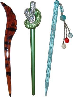 Aaki combo of juda sticks Bun Stick