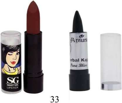 Amura Smart Girl LipStick and Herbal Kajal Dry Pure Bliss Combo