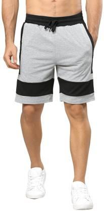 Tripr Striped Men Black, Grey Regular Shorts