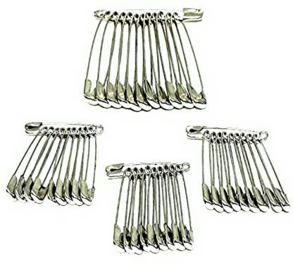 Shop & Shoppee Standard Safety Pins for Girls and Women Set of 100 Back Pin