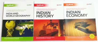 Magbook Pack Of 3 ( India & World Geography + Indian History + Indian Economy )