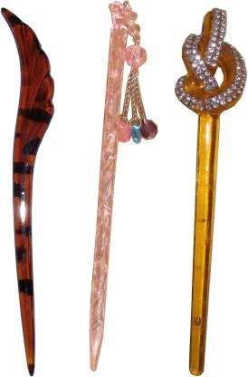 Kabello 360 Degree Gajra combo of juda sticks Bun Stick