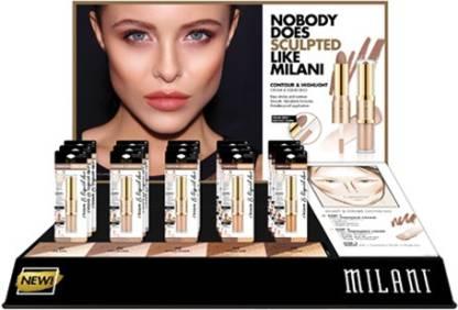 MILANI Contour & Highlight Cream & Liquid Duo Compact