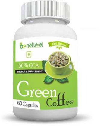 Be Natural Green coffee bean extract 50% GCA 800 mg 60 capsules-pure and natural fat burner,maximum results,zero side effect. (60 Capsules) …